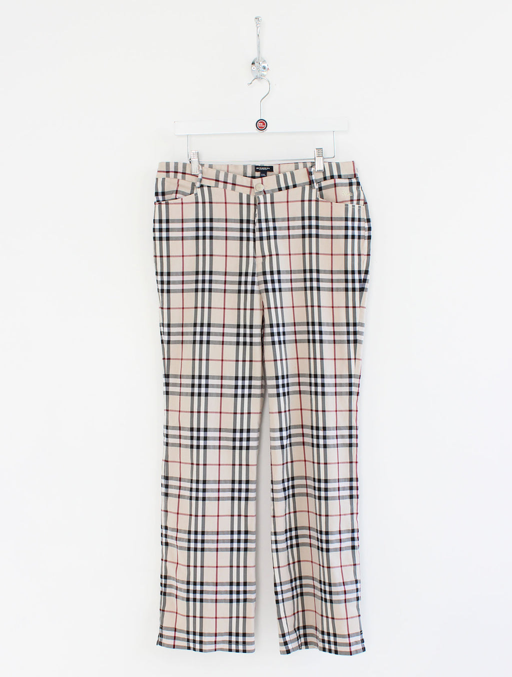 Women's Burberry High Waisted Trousers (XXL)