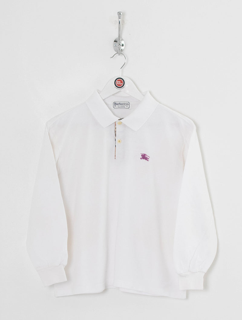 Women's Burberry Longsleeve Polo Shirt (M)