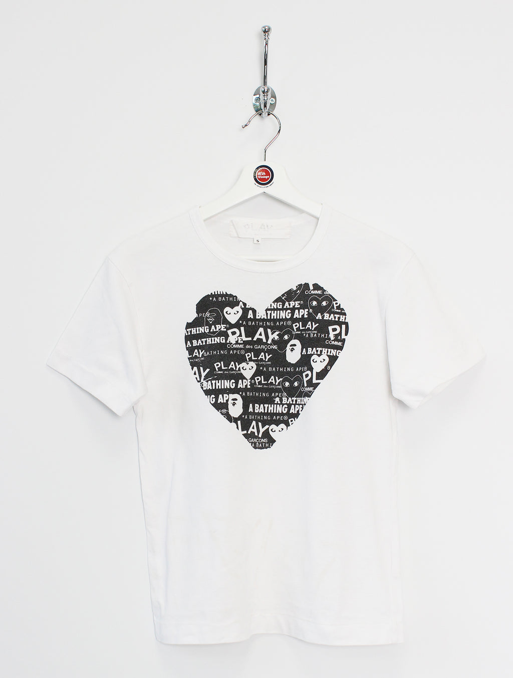 A Bathing Ape x PLAY Comme des Garcons T-Shirt (XS)
