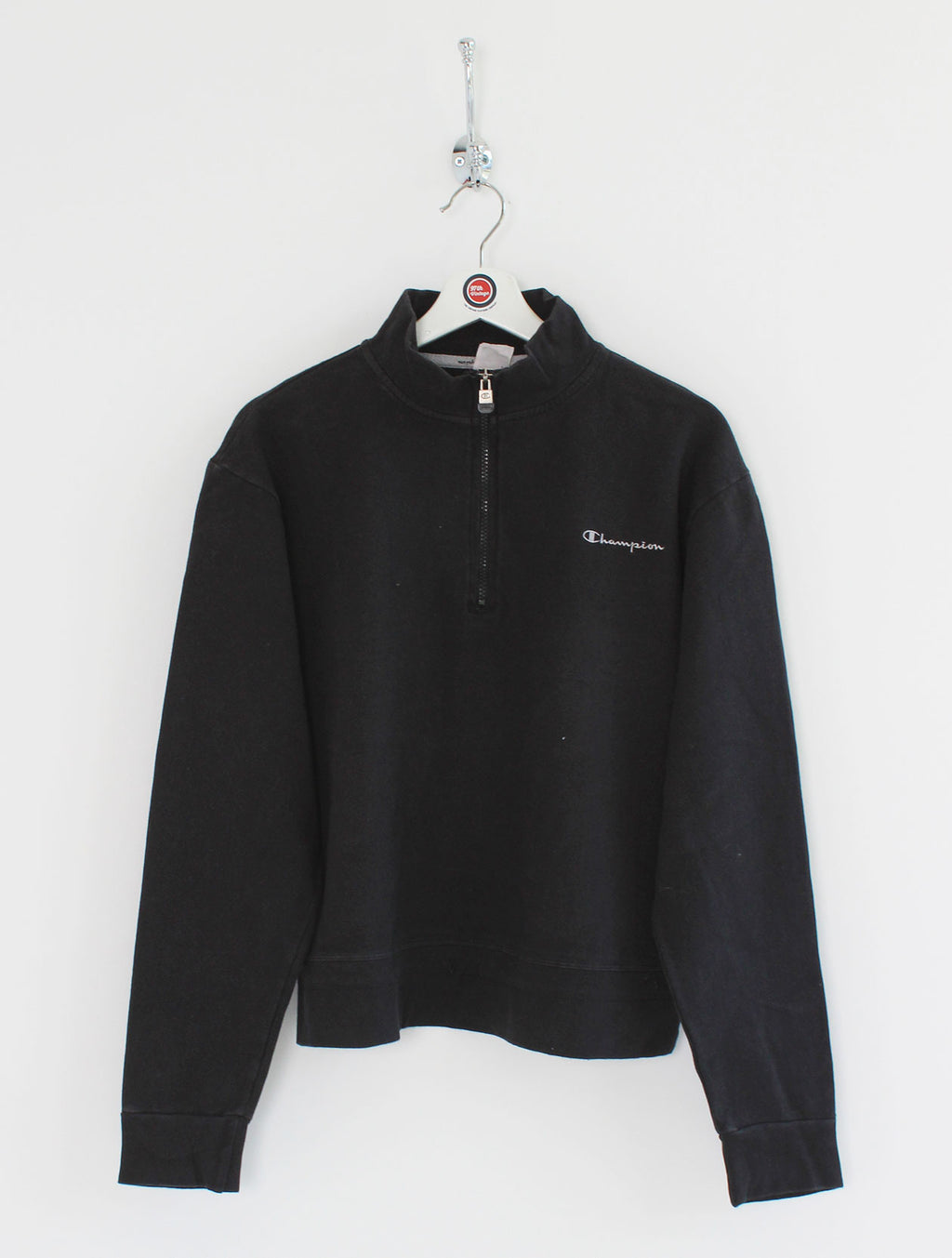 Women's Champion 1/4 Zip Sweatshirt (L)