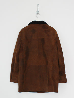 Faux Leather Shearling Jacket (S)
