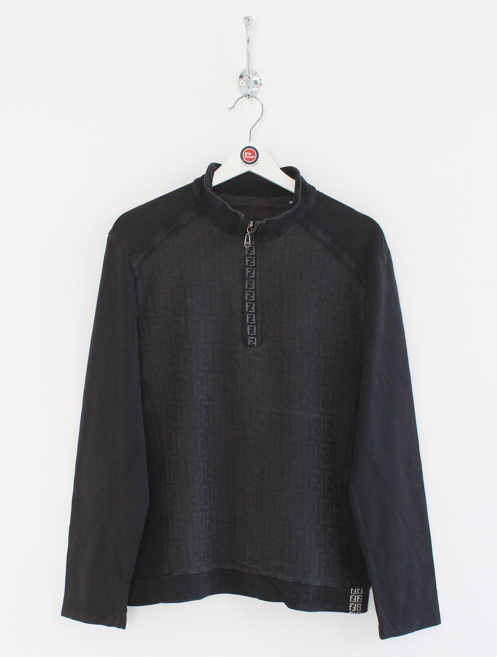 Women's Fendi Monogram 1/4 Zip Jumper (M)