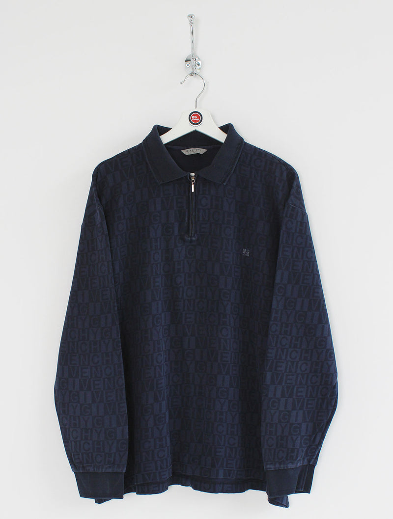 Givenchy 1/4 Zip Polo Shirt (L)