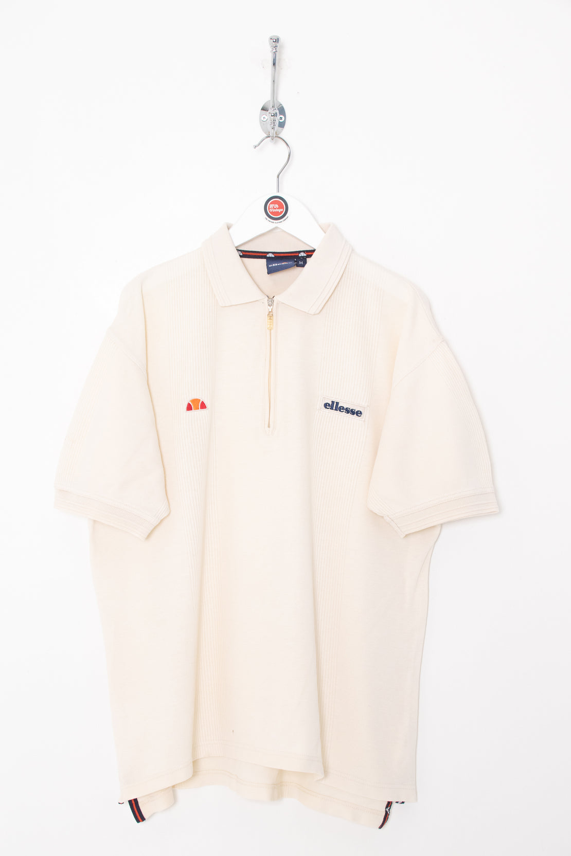 Ellesse 1/4 Zip Polo Shirt (M)