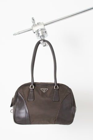 Prada Nylon/Leather Handbag