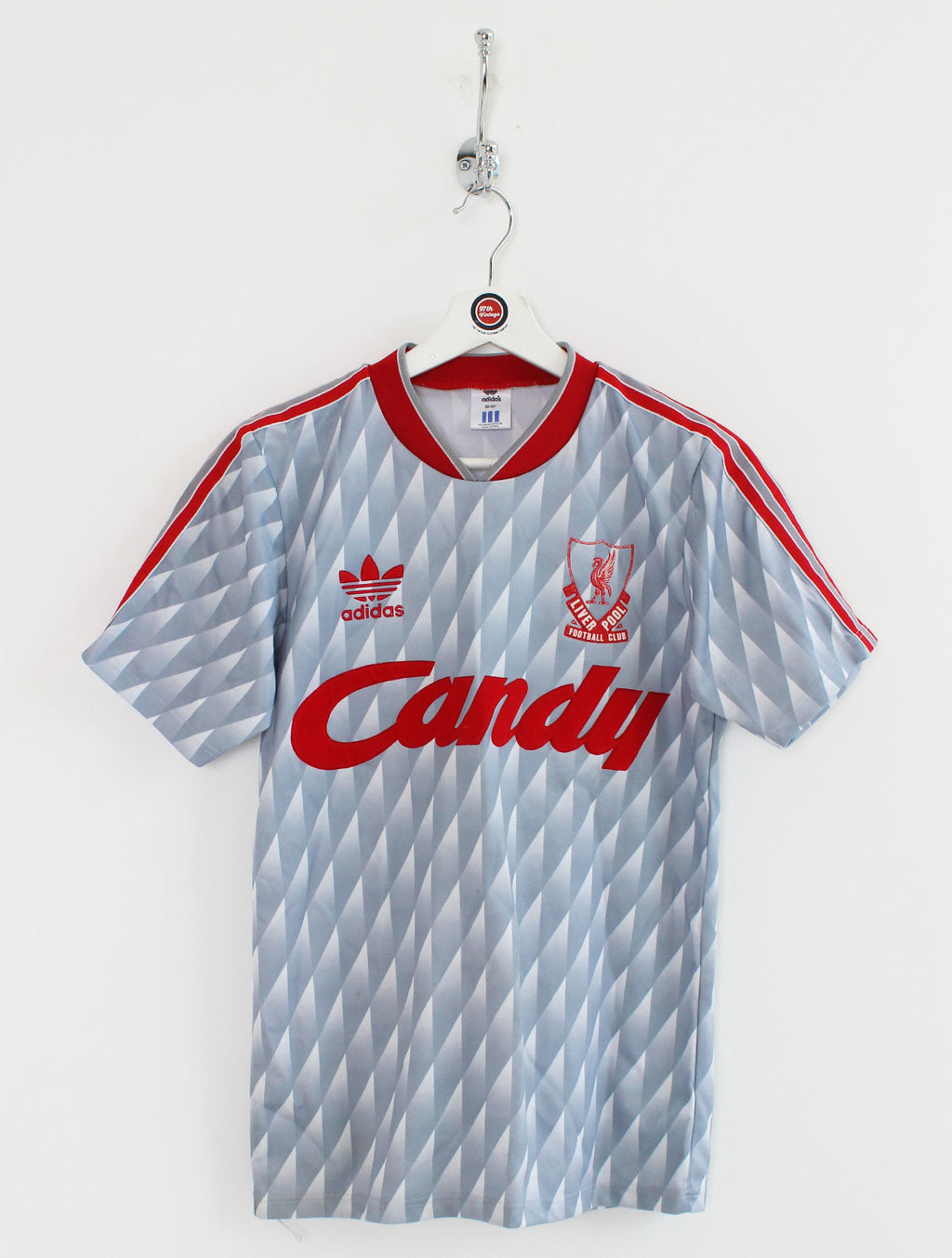 1989/91 Liverpool Football Shirt (XS)