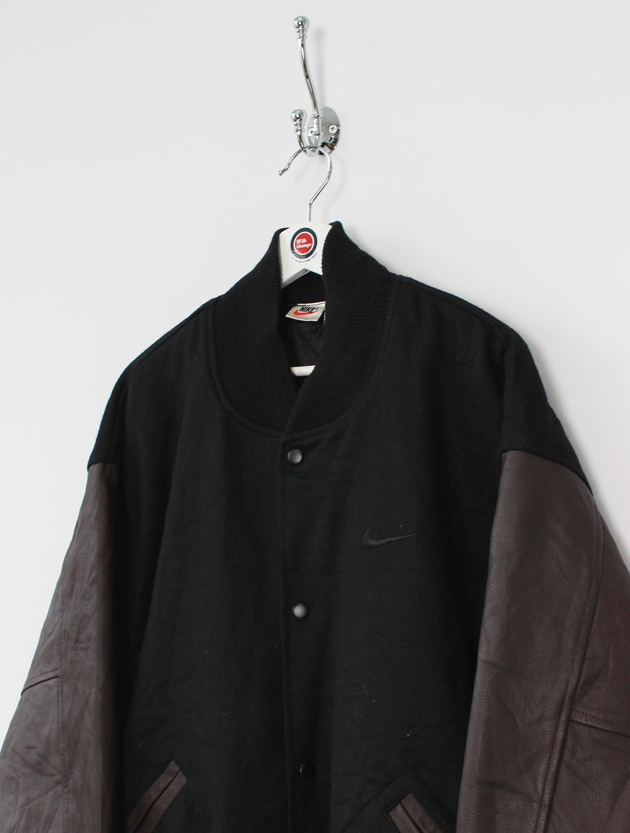5b7ff6838 Nike Leather/Wool Bomber Jacket (L)
