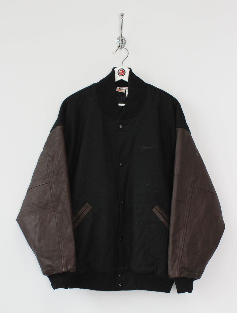 Nike Leather/Wool Bomber Jacket (L)