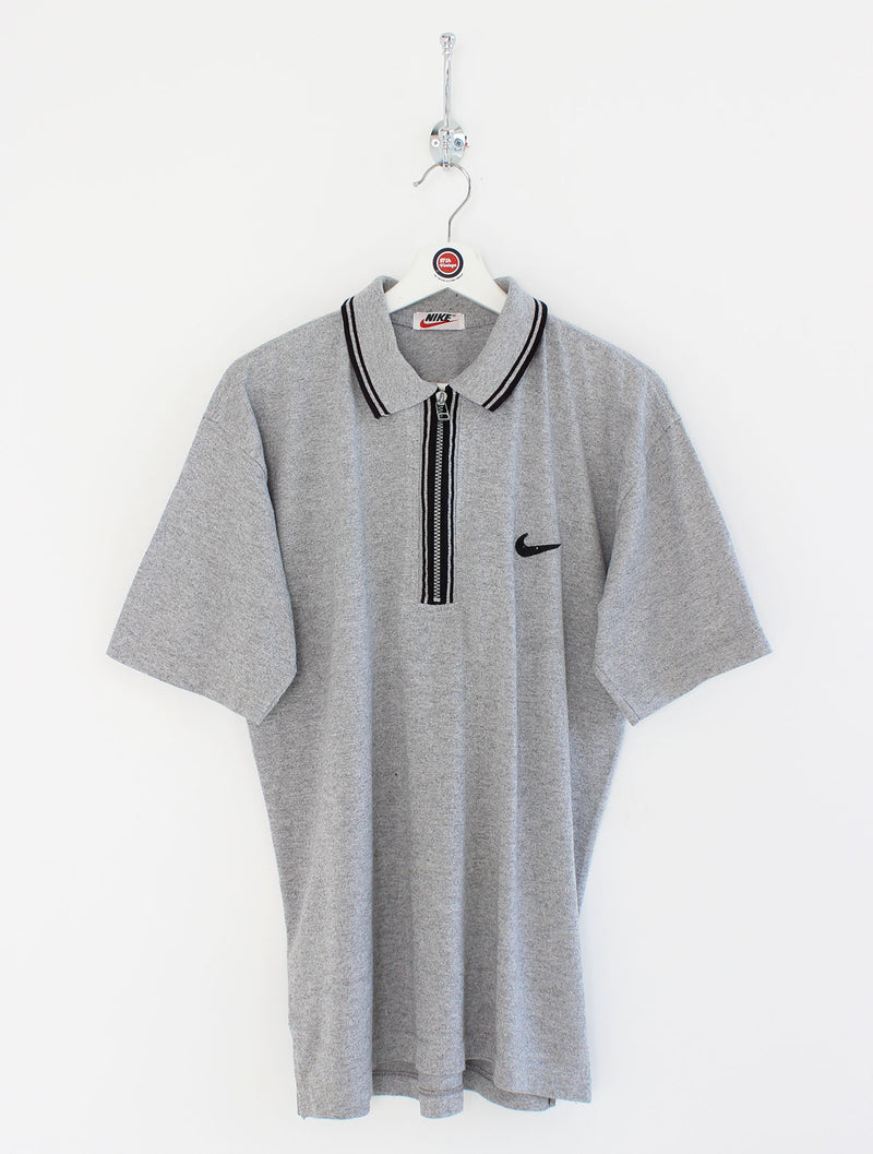 Nike 1/4 Zip Polo Shirt (M)