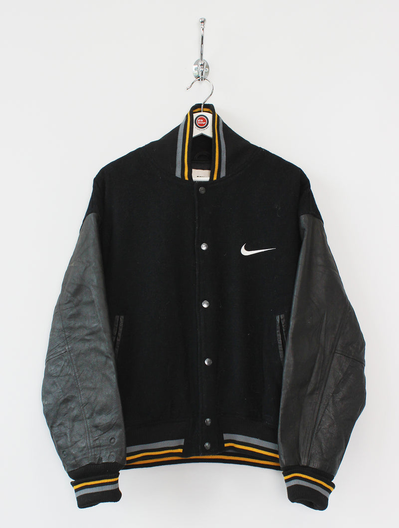 Nike Leather/Wool Baseball Jacket (L)