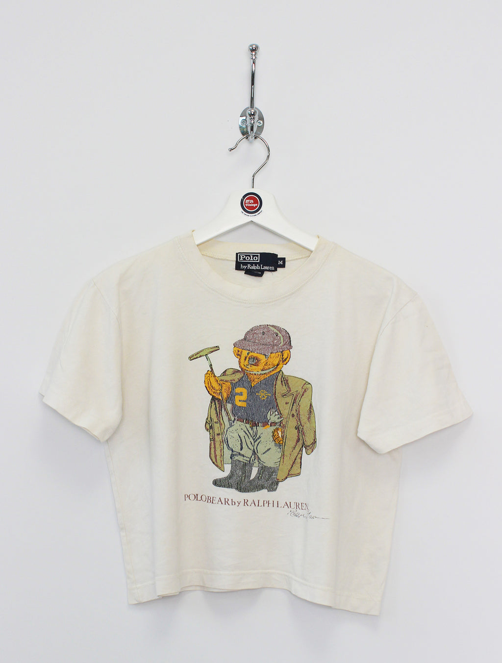 Ralph Lauren Polo Bear Cropped T-Shirt (M)