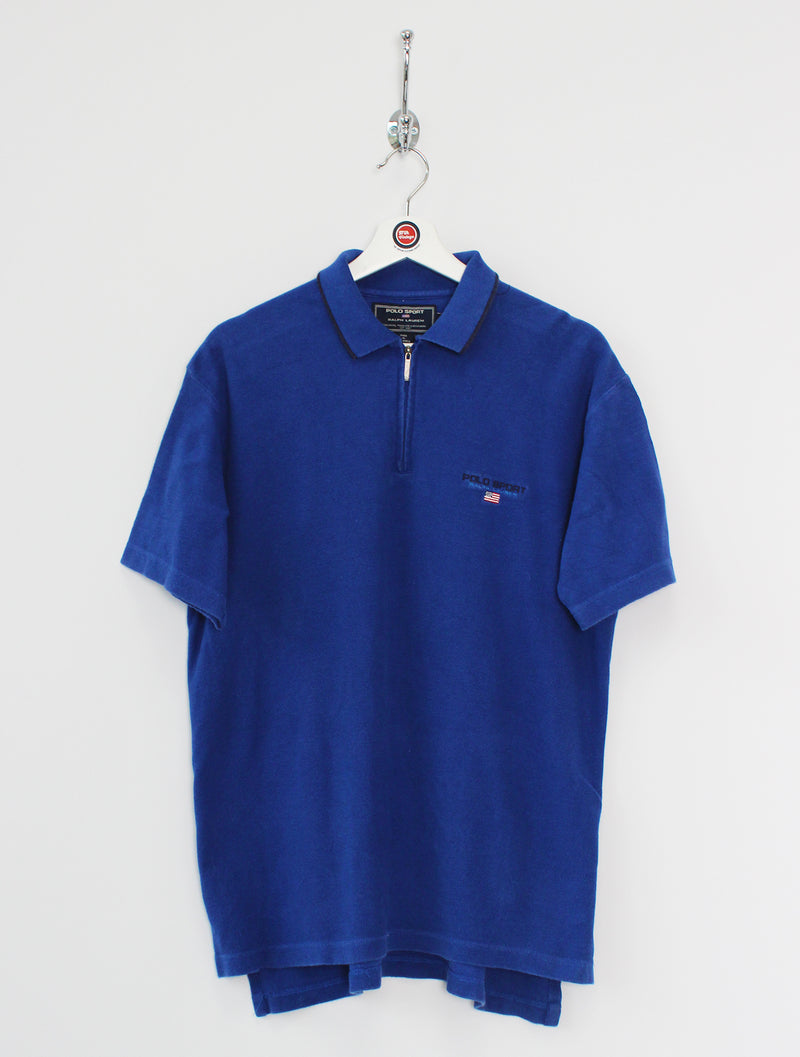 Ralph Lauren 1/4 Zip Polo Shirt (M)