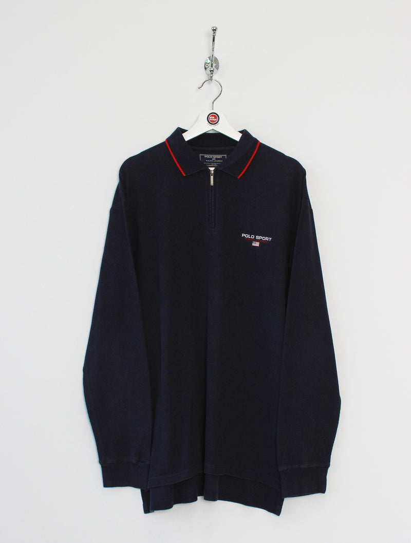 Ralph Lauren Polo Sport 1/4 Zip Polo Shirt (XL)