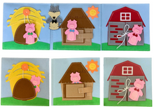 Load image into Gallery viewer, The three little pigs and a big bad wolf