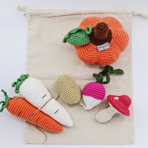 Knitted Veggie Set (6 pcs) - Ollie and Mia
