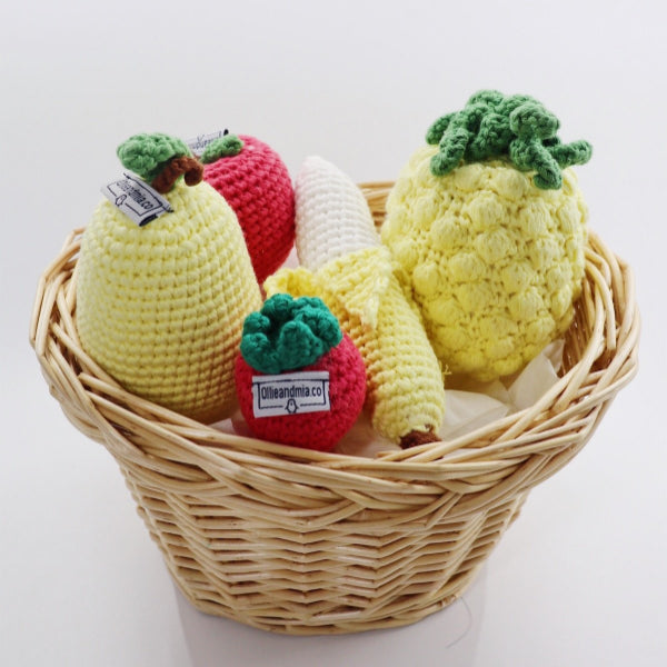 Knitted Fruits Set (5 pcs) - Ollie and Mia