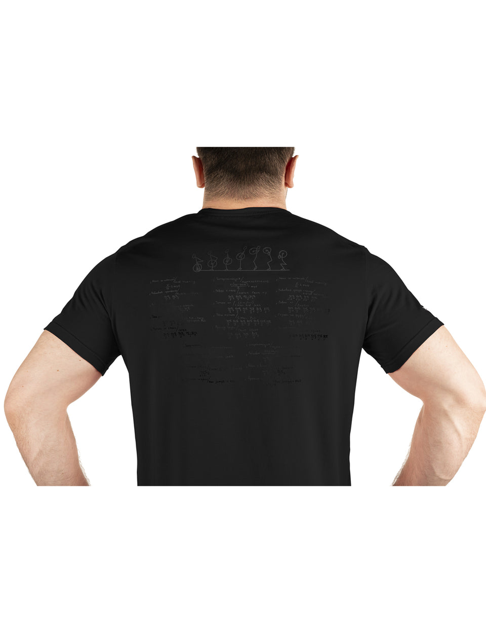 Warm Body Cold Mind Men's T-Shirt V2 Black on Black