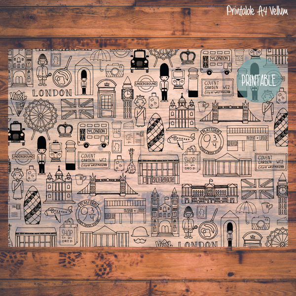 PRINTABLE Doodle Vellum - London