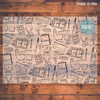 image relating to Printable Vellum called PRINTABLE Doodle Vellum - Stationery