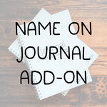 ADD-ON Vinyl name on Journal