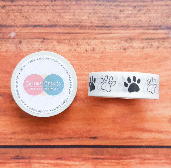 Dog paws Washi tape