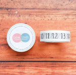 Fancy Numbers Washi tape