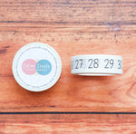 Basic Numbers Washi tape