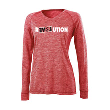 Load image into Gallery viewer, LADIES V-NECK L/S PERFORMANCE TEE