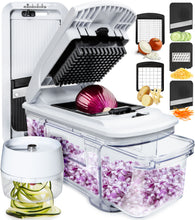 Load image into Gallery viewer, Fullstar Mandoline Slicer Spiralizer Vegetable Slicer - Vegetable Chopper Onion Chopper Food Chopper Vegetable Spiralizer Mandoline Slicer Cutter Chopper and Grater Slicer Zucchini Spaghetti Maker