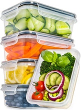 Load image into Gallery viewer, Food Storage Containers with Lids - Food Containers with Lids Plastic Containers with Lids (25 Ounce) - Leak Proof Lunch Containers Plastic Storage Containers with Lids - BPA-Free Meal Prep Containers