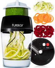 Load image into Gallery viewer, fullstar Vegetable Spiralizer Vegetable Slicer - 3 in 1 Zucchini Spaghetti Maker Zoodle Maker - Veggie Spiralizer Adjustable Handheld Spiralizer - Zucchini Noodle Maker Spiralizer with Container