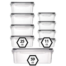 Load image into Gallery viewer, 9-Pack Food Storage Containers with Lids set (3 Sizes)