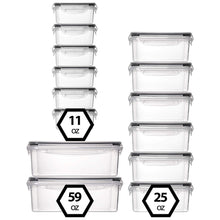 Load image into Gallery viewer, 14-Pack Food Storage Containers with Lids (3 Sizes)