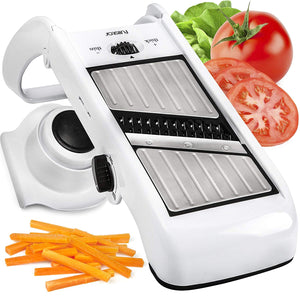 Adjustable-Foldable Mandoline Slicer with Comfort Grip Hand Protector