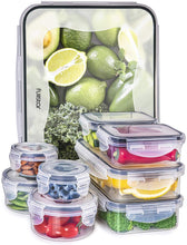 Load image into Gallery viewer, 18-piece Airtight Food Storage Containers set (5 sizes)