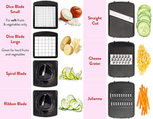 Load image into Gallery viewer, Fullstar Vegetable Chopper Mandoline Slicer Dicer - Onion Chopper - Vegetable Dicer Food Chopper Dicer Pro - Food Choppers and Dicers - Spiralizer Vegetable Cutter - Spiralizer Vegetable Slicer