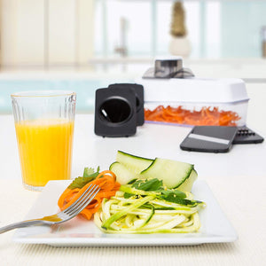 Fullstar Mandoline Slicer Spiralizer Vegetable Slicer -Veggie Slicer 5-in-1  Mandoline Food Slicer with Julienne Grater - V Slicer Mandoline Cutter - Vegetable Cutter Zoodle Maker