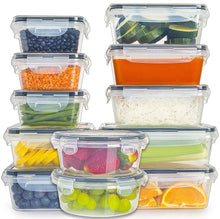 Load image into Gallery viewer, 24-Piece Food Storage Containers with Lids set (5 Sizes)