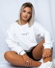 Original Saranti Oversized White Sweatshirt