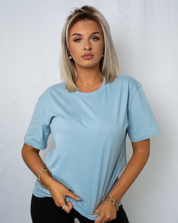 Baby Blue Signature Saranti T-Shirt