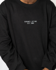 Original Saranti Oversized Black Sweatshirt