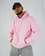 Light Pink Signature Hoodie / White Embroidery