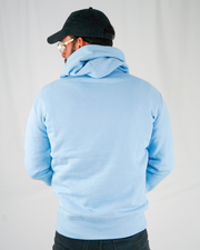 Baby Blue Signature Hoodie / White Embroidery