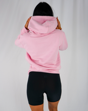 Pink Signature Hoodie / Black Embroidery