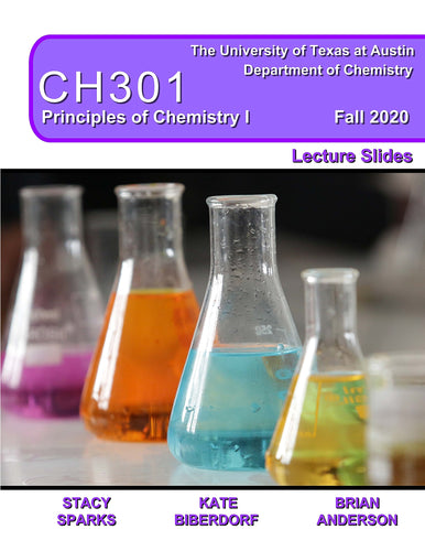 Principles of Chemistry I CH301 Lecture Slides FALL2020
