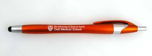 Dell Medical Orange Click Pen with Stylus