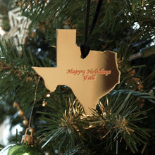 Load image into Gallery viewer, Silver Texas Shape Ornament