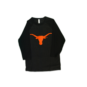 Black Long-sleeve Shirt with Longhorn
