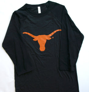 Longhorn Black Long-sleeve Shirt