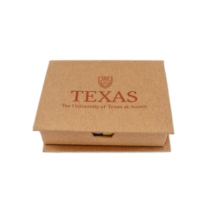Top-Recycled Sticky Note Memo Case with UT Logo
